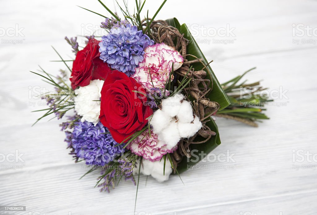 Bouquet lying down royalty-free stock photo