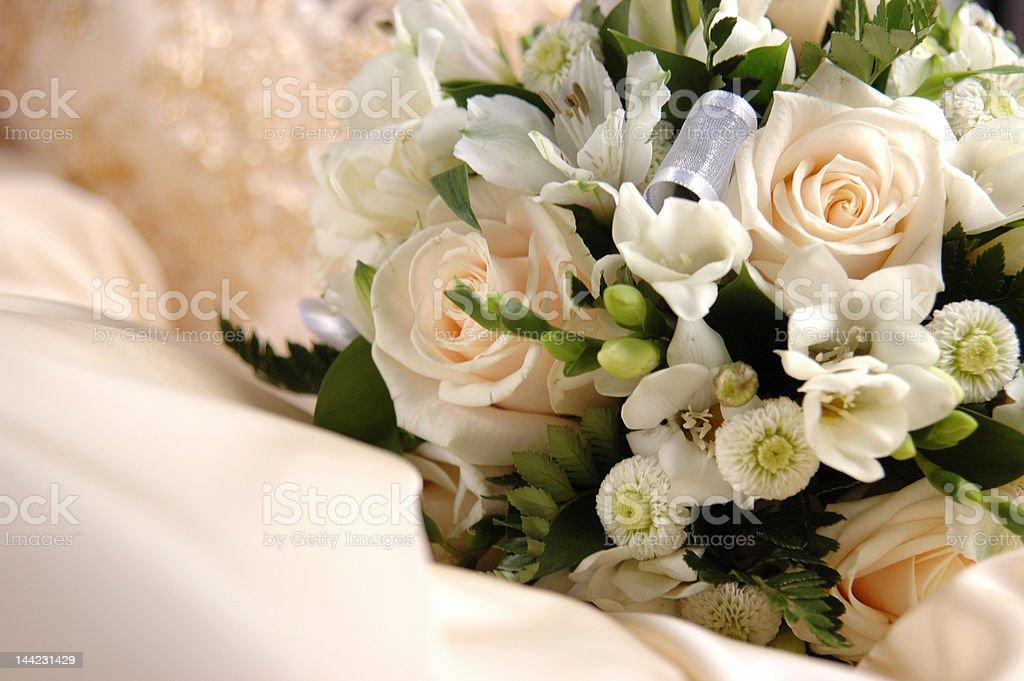 bouquet of a bride stock photo