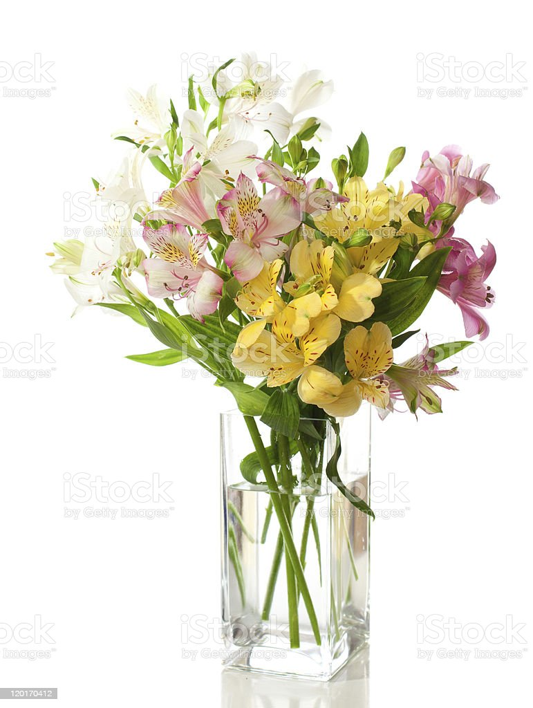 Bouquet of Alstroemeria flowers royalty-free stock photo