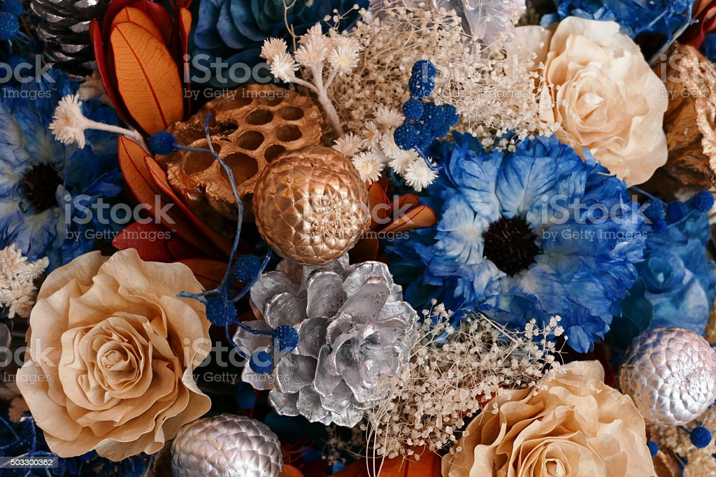bouquet of artificial flower stock photo