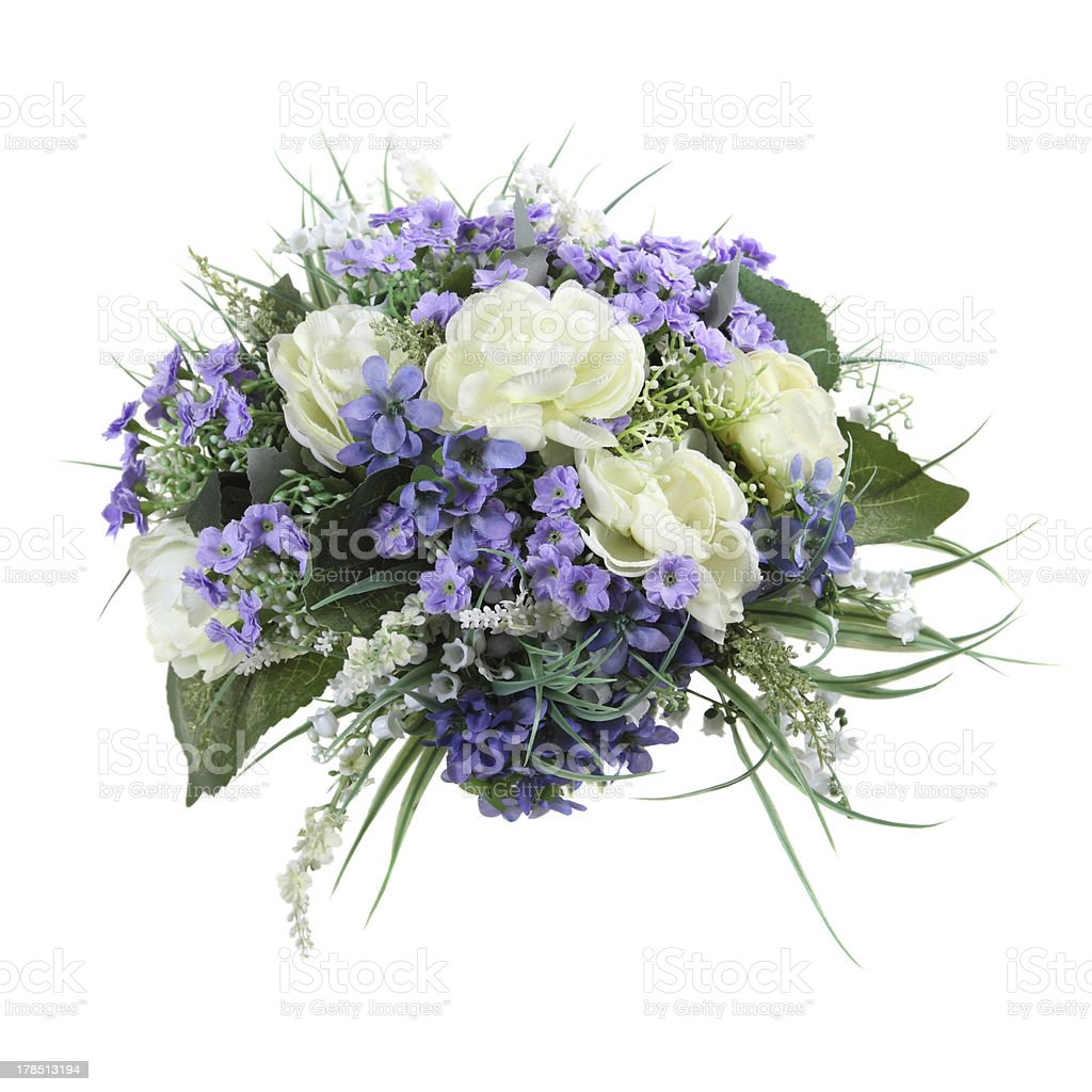 bouquet of artificial flowers royalty-free stock photo