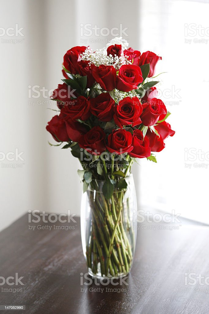 Bouquet of Beautiful Red Roses stock photo