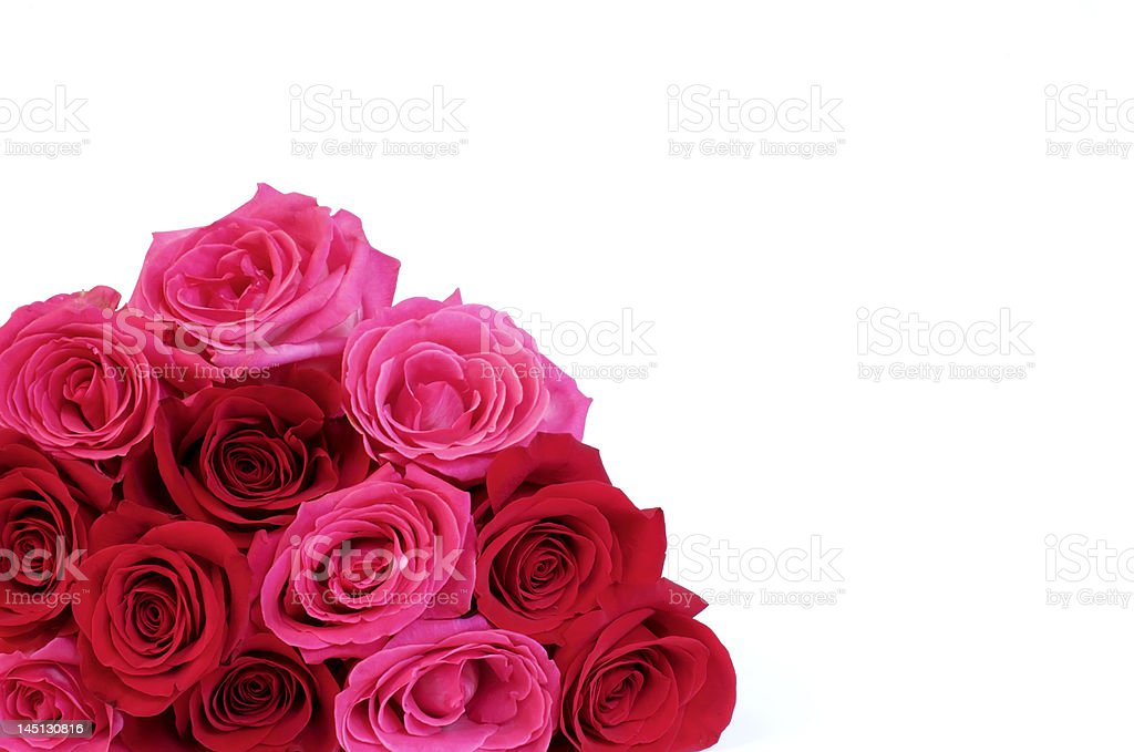 Bouquet of Bright Roses royalty-free stock photo