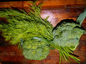 Bouquet of broccoli and fennel beam