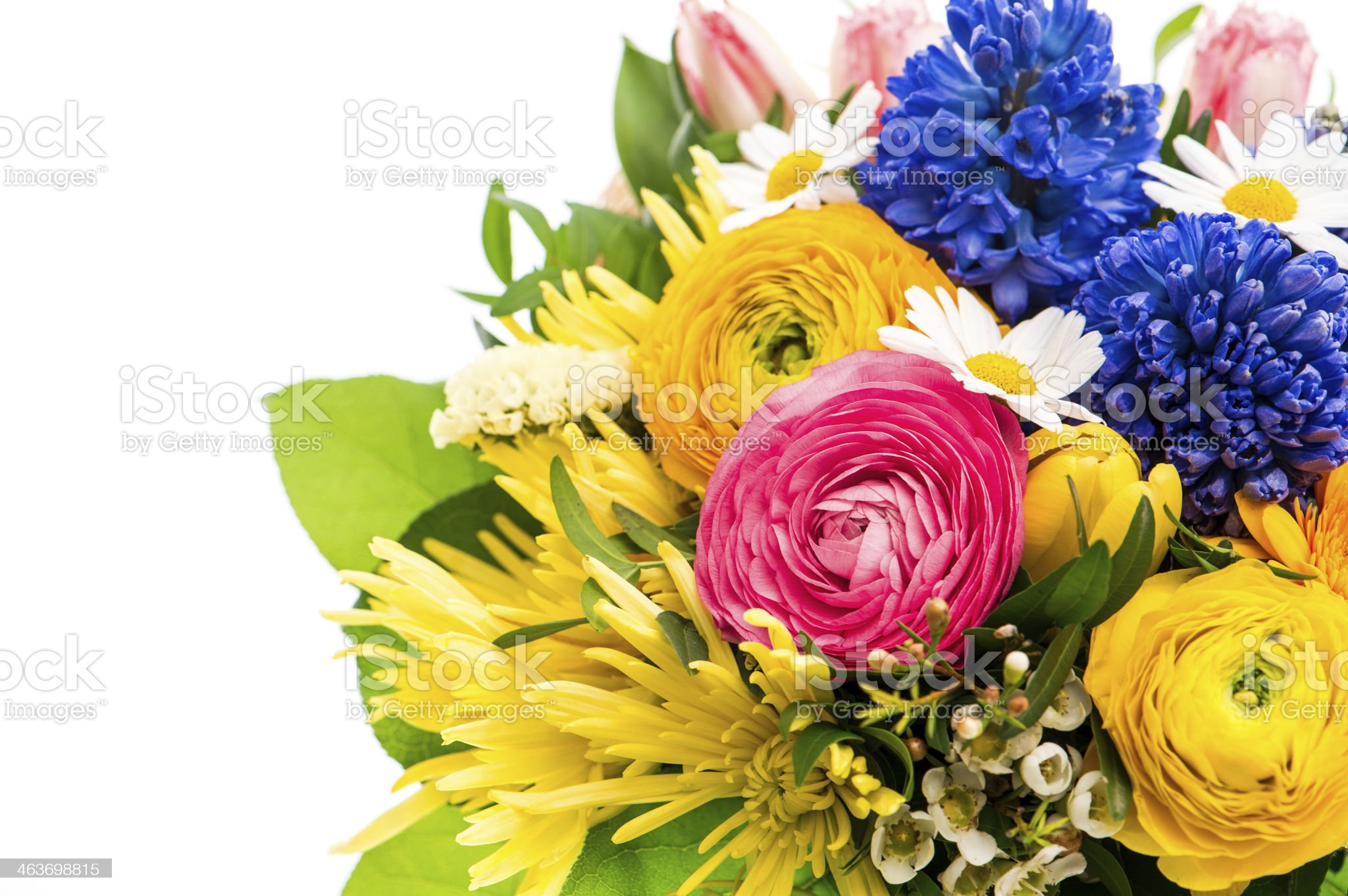 bouquet of colorful spring flowers royalty-free stock photo