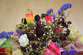 Bouquet of dried flowers for wedding.