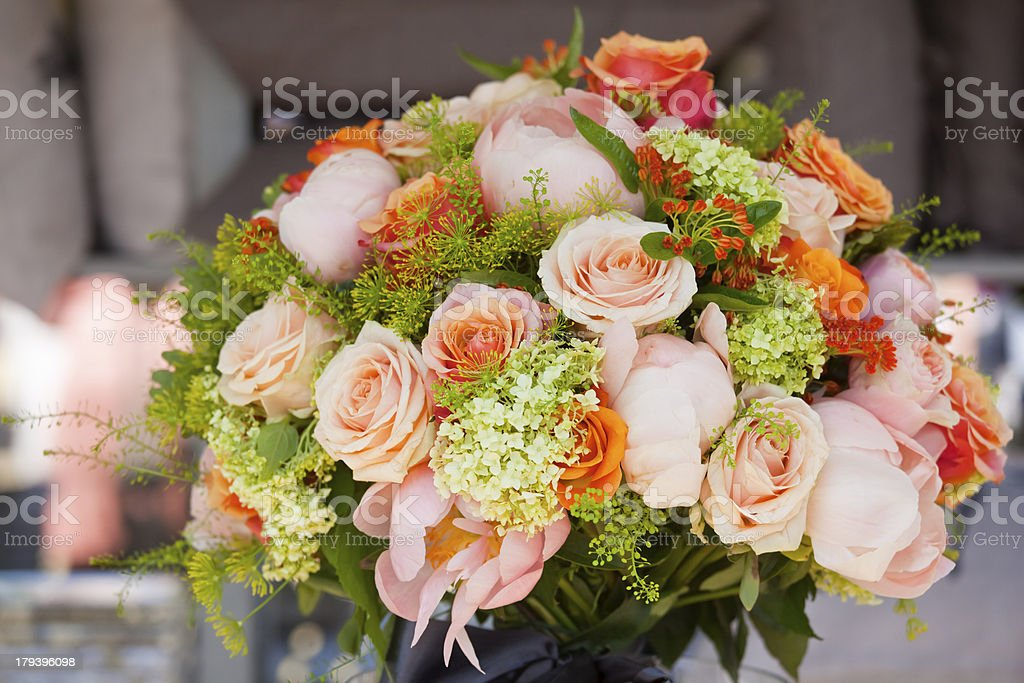 Bouquet Of English Garden Flowers stock photo 179396098 iStock