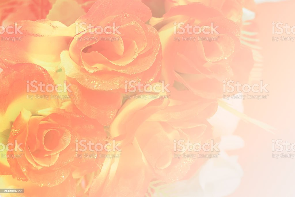 bouquet of fake red rose stock photo