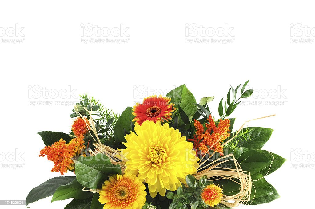 bouquet of flower with dahlia and aster royalty-free stock photo