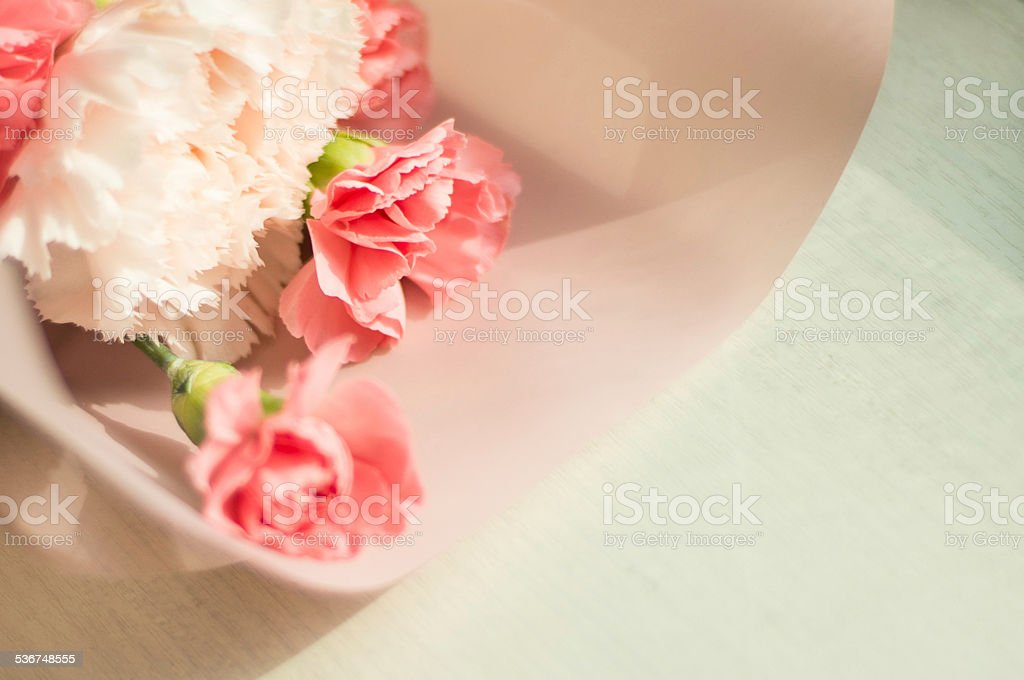 Bouquet of flowers - carnations stock photo