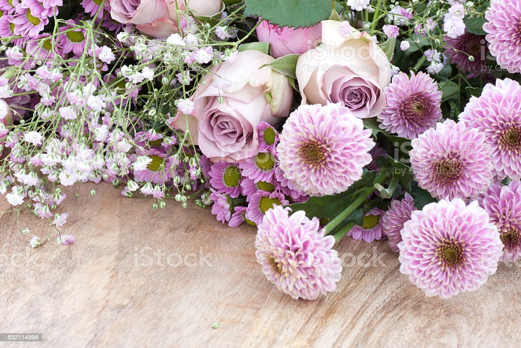 Bouquet of flowers for ceremonies stock photo