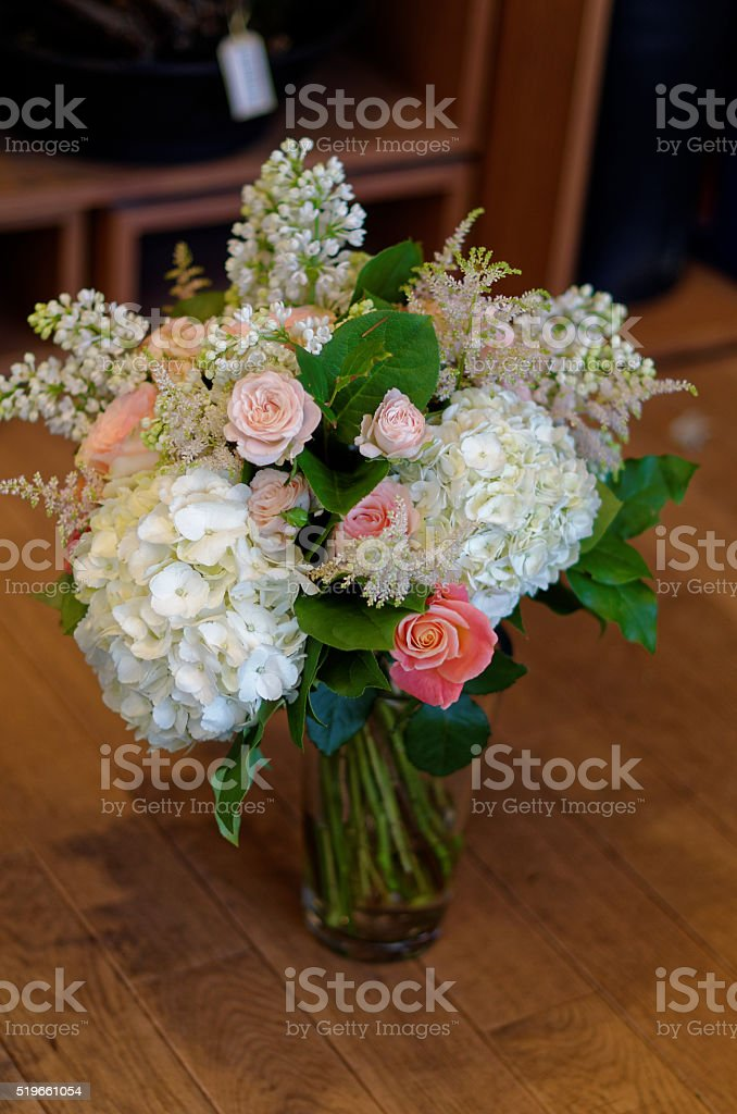 Bouquet of flowers in a vase royalty-free stock photo