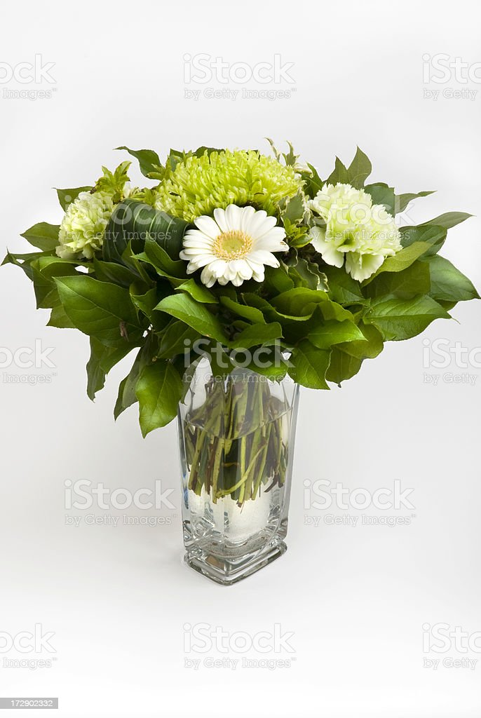 Bouquet of flowers in glass royalty-free stock photo