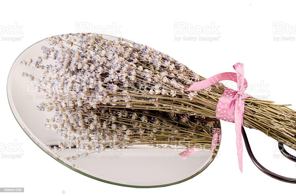 Bouquet of Lavandula flowers (common name lavender) stock photo