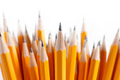 Bouquet of newly sharpened pencils