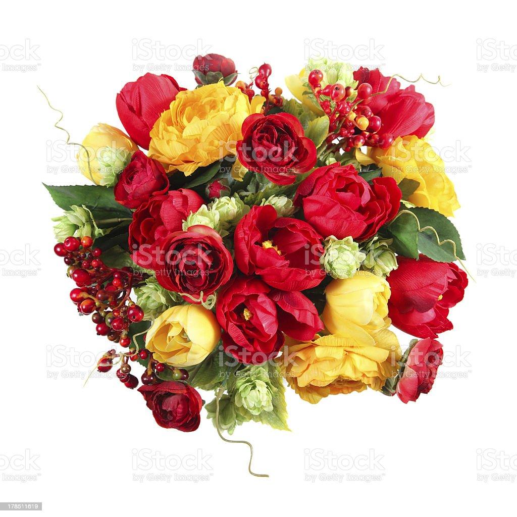 bouquet of rose, gomfrena, ardiziya, tulip royalty-free stock photo