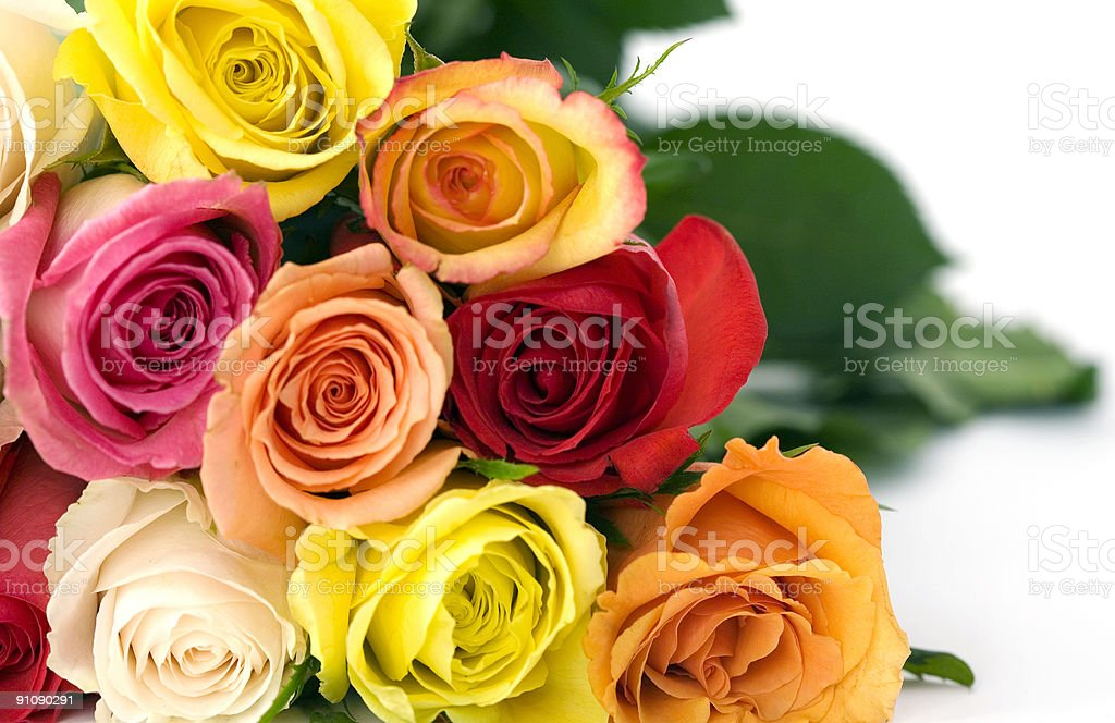 Bouquet of Roses, up Close, Personal, Promotes Love royalty-free stock photo