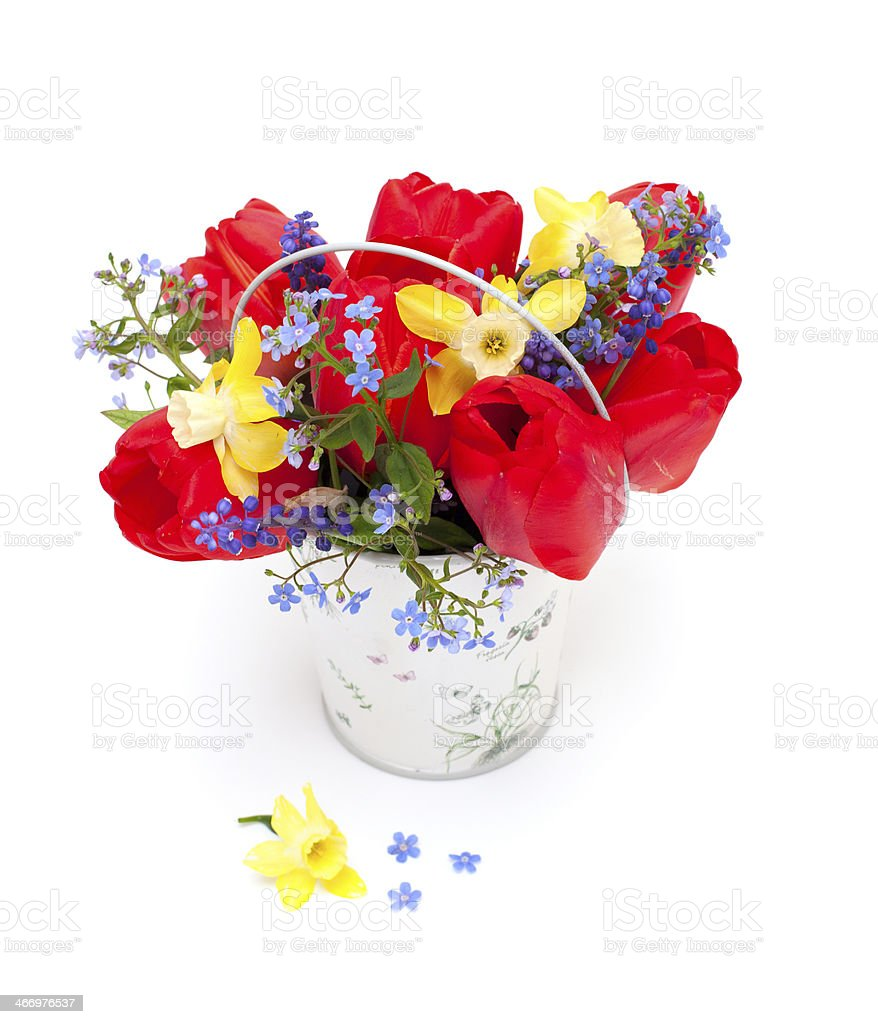 Bouquet Of Spring Flowers stock photo 466976537   iStock