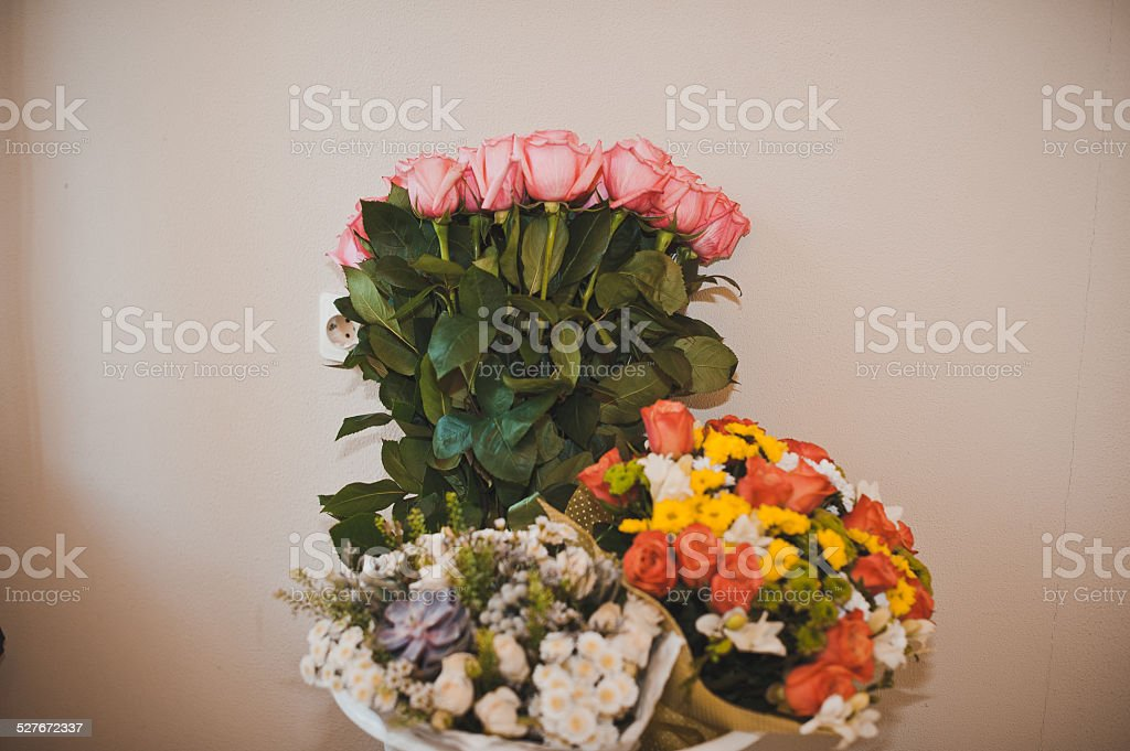 Bouquet on a table 1395. stock photo