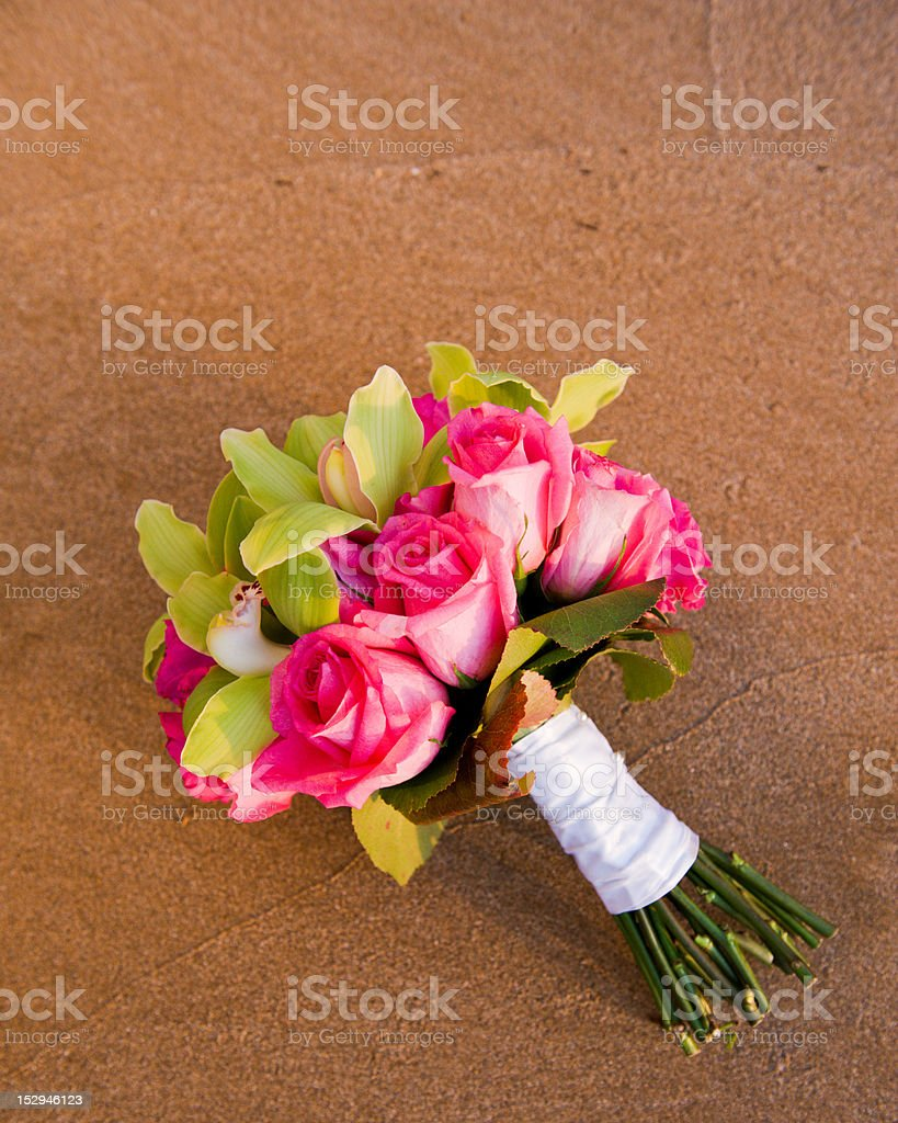 Bouquet on the Sand royalty-free stock photo