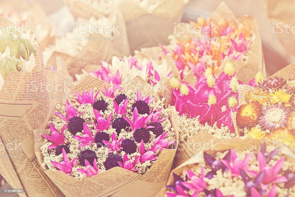 Bouquet - Retro filter effect. stock photo
