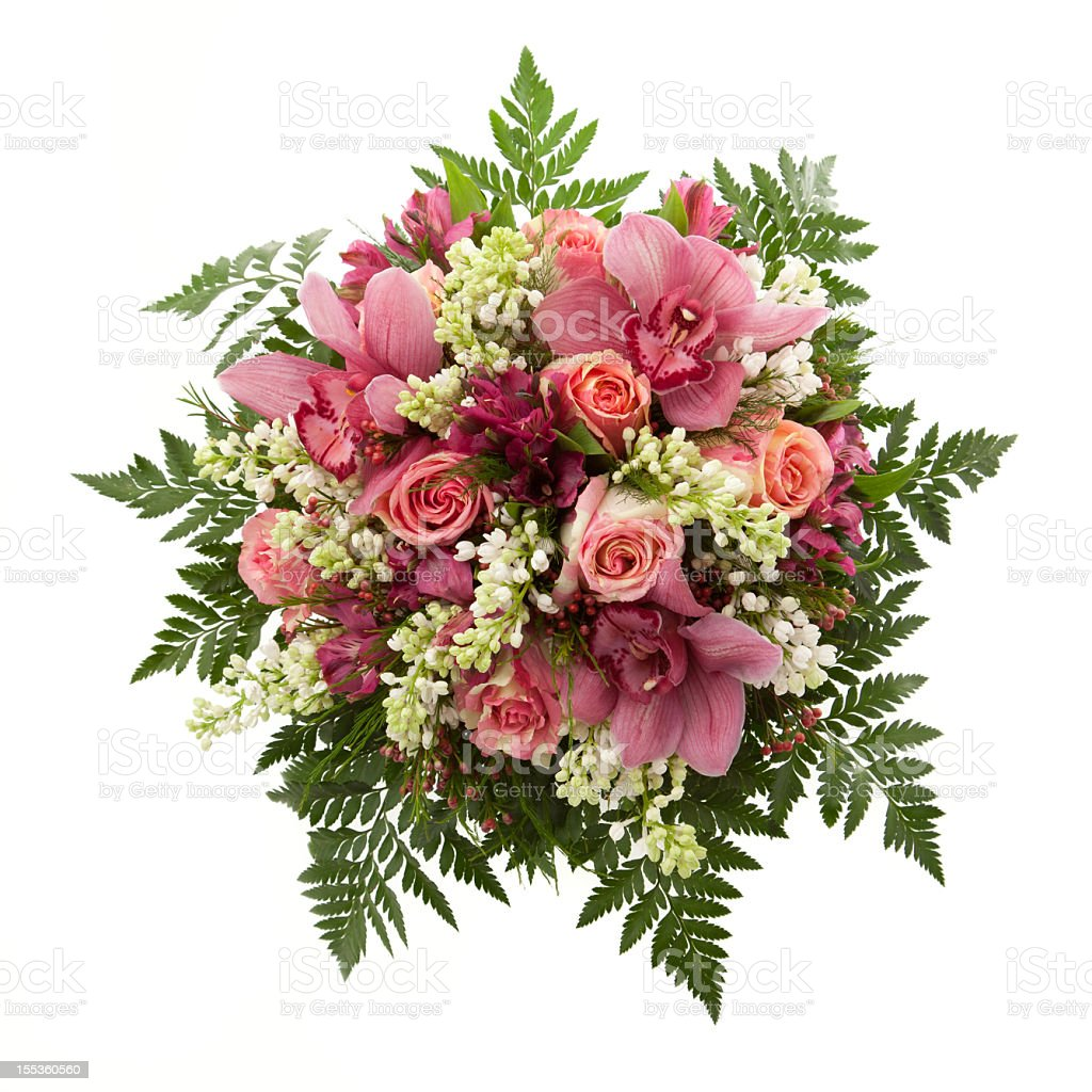 Bouquet seen from above stock photo