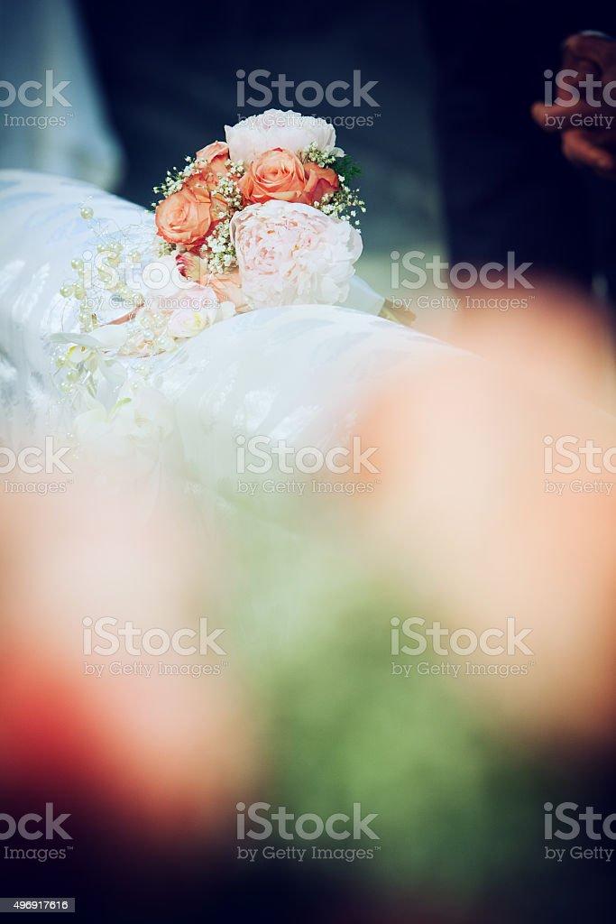 bouquet sposa stock photo