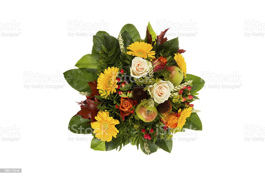 Bouquet with autumn decoration royalty-free stock photo