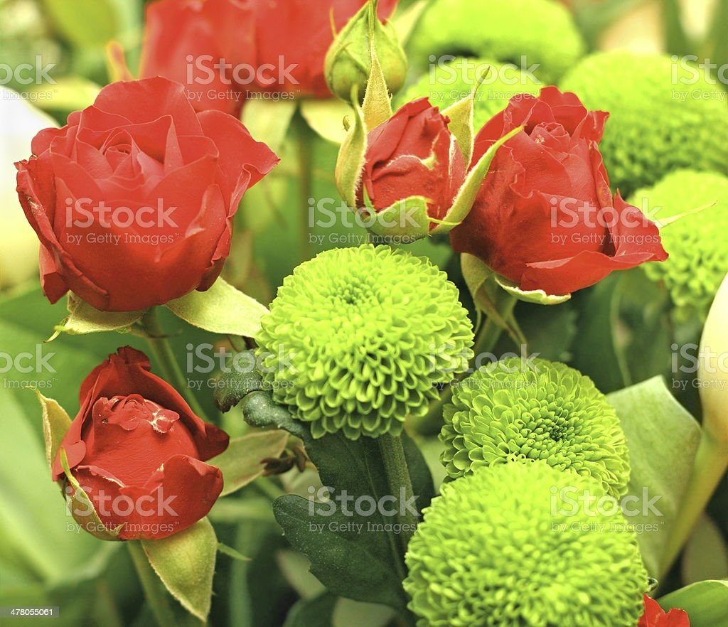 bouquet with red roses royalty-free stock photo