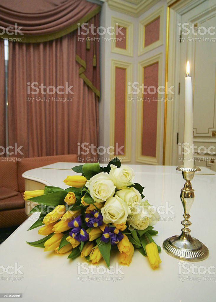 Bouquet with roses royalty-free stock photo