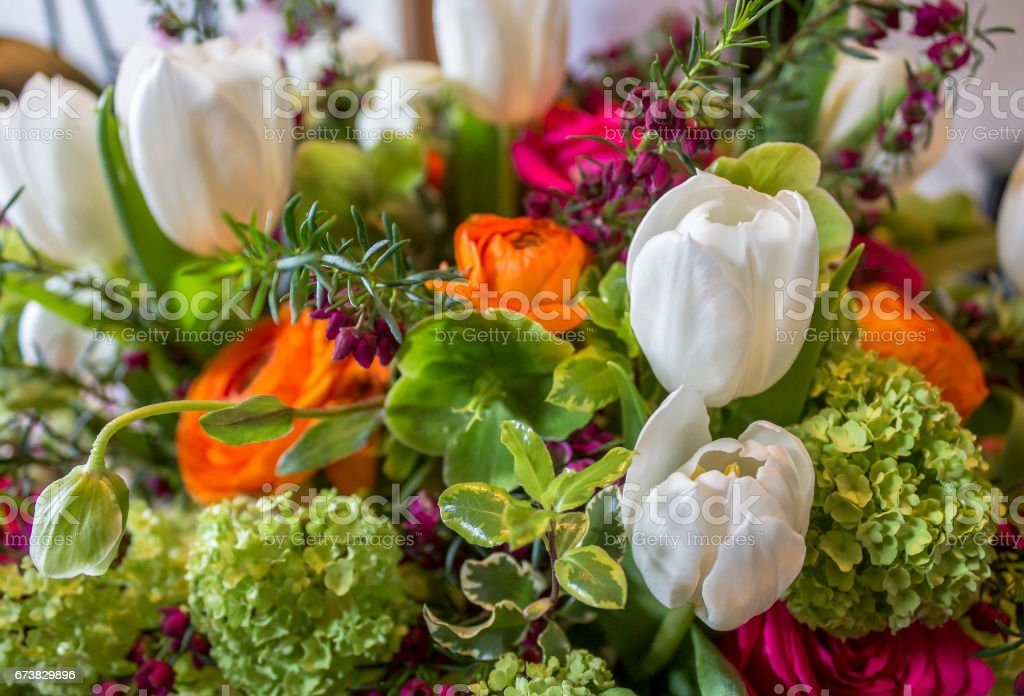Bouquet with Tulips stock photo