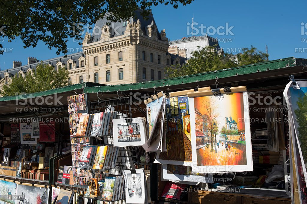Bouquinistes of Paris, France stock photo