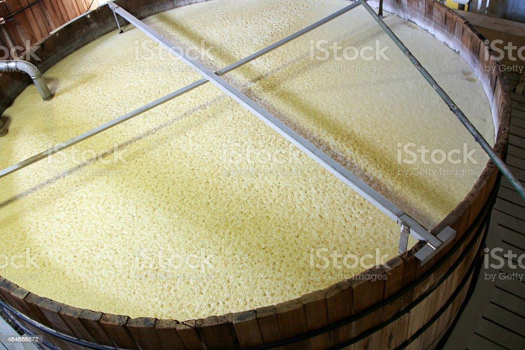 Bourbon, beer or whiskey fermenting tank stock photo