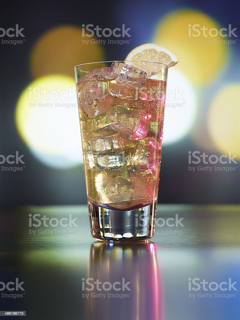 Bourbon Collins Cocktail stock photo