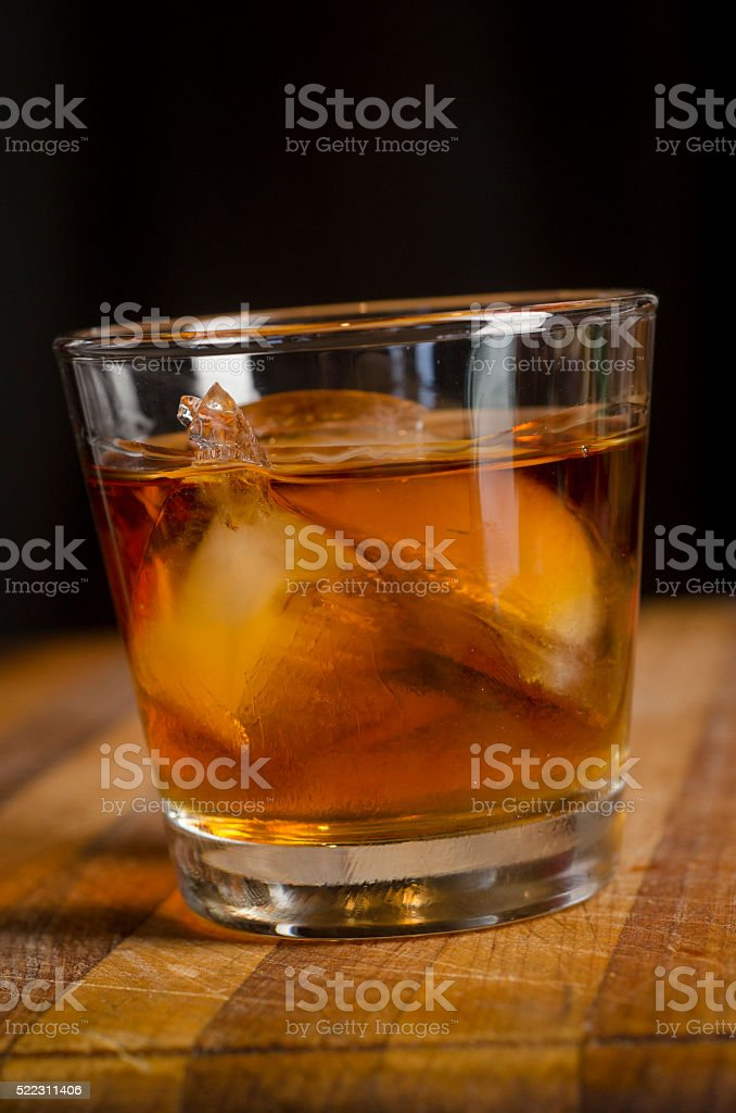 Bourbon in Glass stock photo