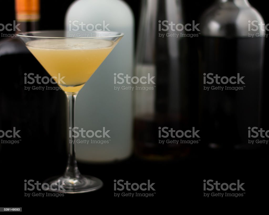 Bourbon Sidecar Cocktail stock photo