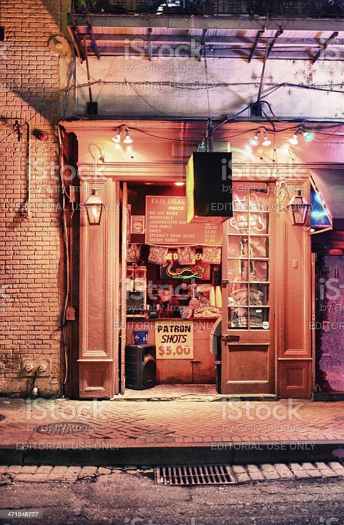 Bourbon Street Bar stock photo