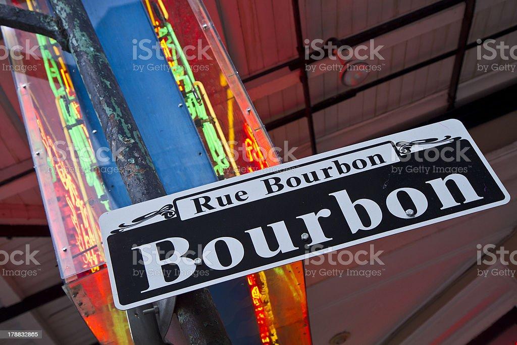 Bourbon Street Neon Askew stock photo