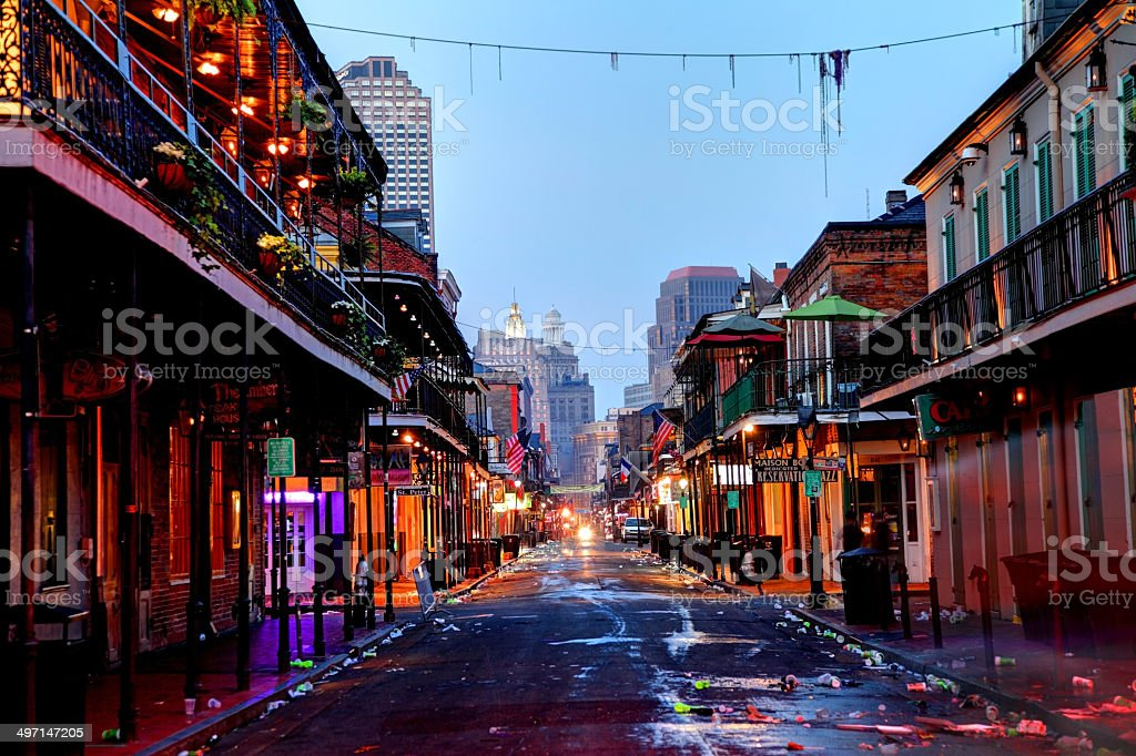 Bourbon Street , New Orleans stock photo