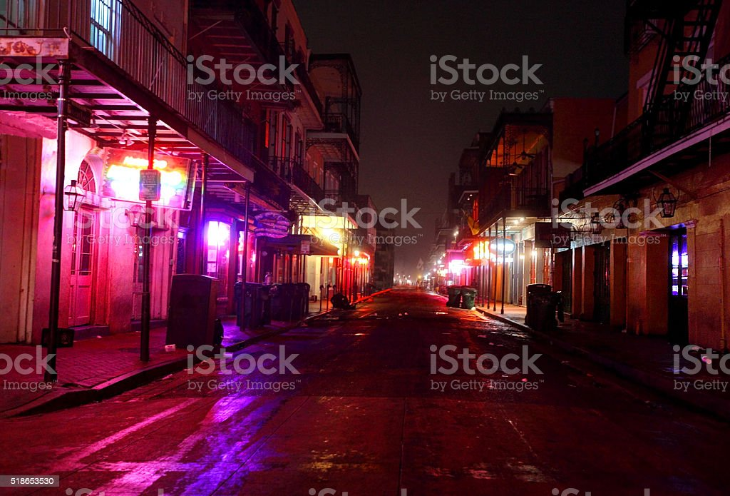 Bourbon Street, New Orleans stock photo