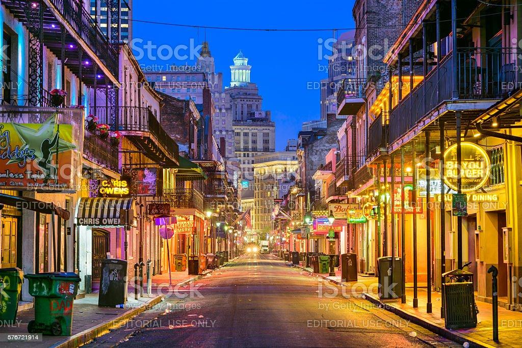 Bourbon Street New Orleans stock photo
