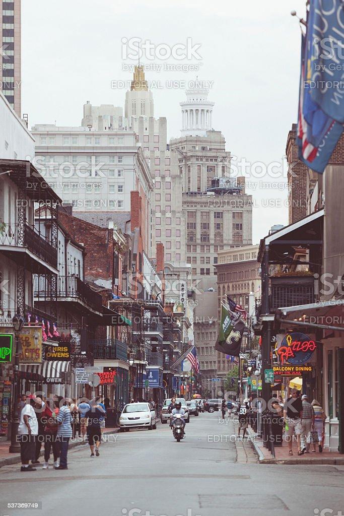 Bourbon Street, New Orleans, USA stock photo