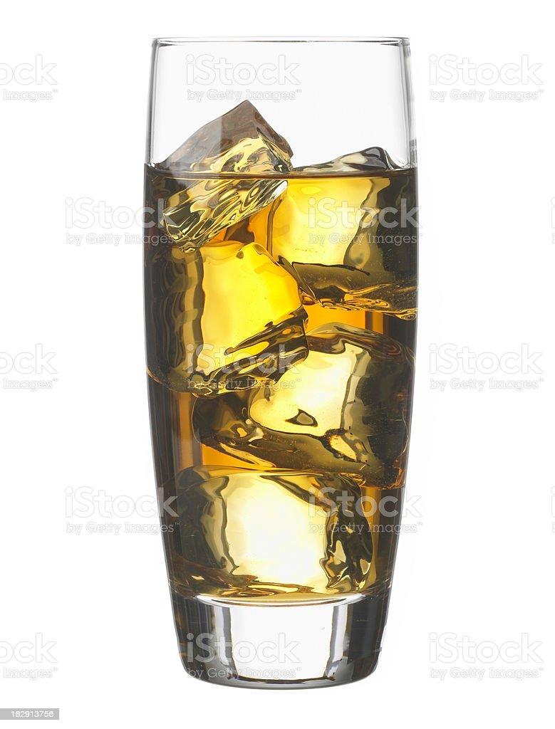 Bourbon Whiskey on the rocks 1 stock photo