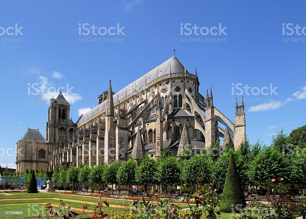 Cathédrale de Bourges stock photo