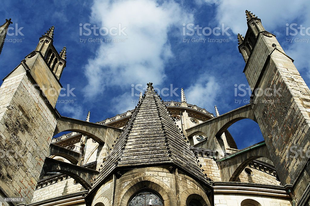 Bourges Cathedral stock photo