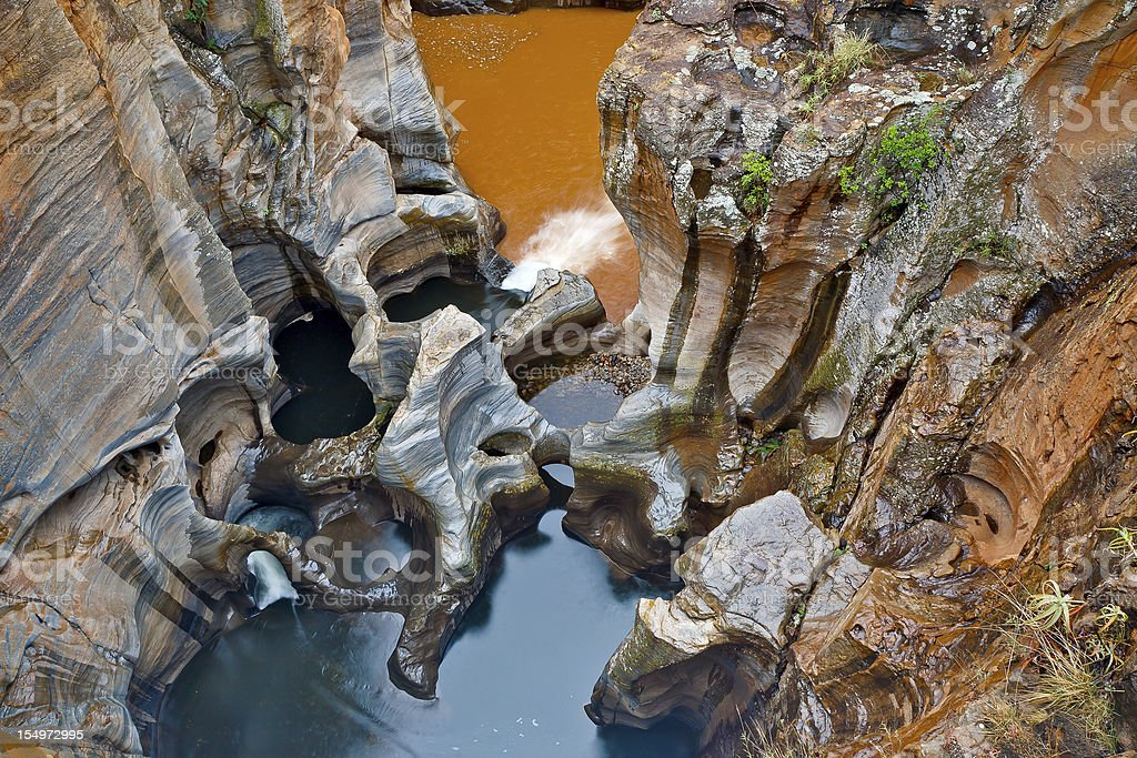 Bourkes Luck Potholes, in Mpumalanga, South Africa royalty-free stock photo