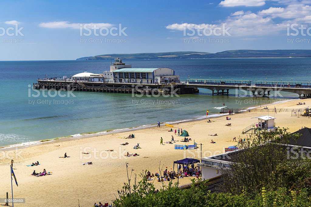 Bournemouth Beach Dorset stock photo