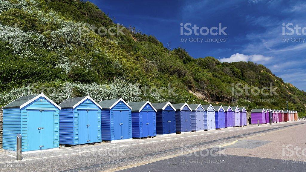 Bournemouth Beach Huts stock photo