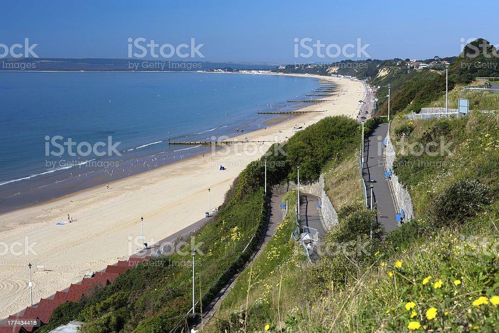 Bournemouth Beach to Sandbanks stock photo