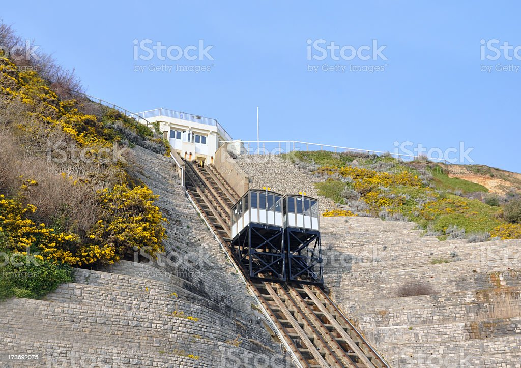 Bournemouth Cliff Lifts stock photo